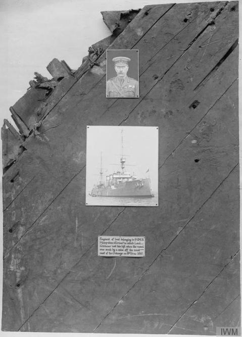 Fragment of boat belonging to HMS HAMPSHIRE in IWM collection
