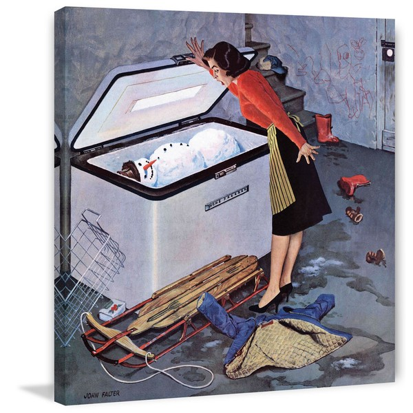Frosty in the Freezer by John Falter