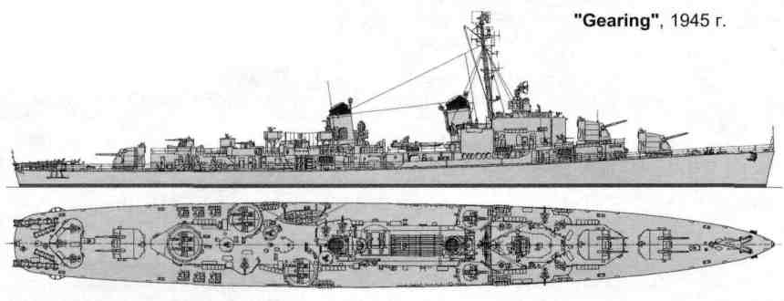 WWII Gearing layout. Contrast this with her FRAM look as shown frequently above