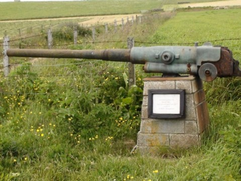 HMS Hampshire gun at Marwick Head
