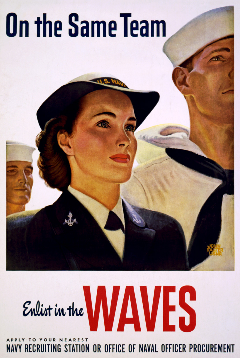 john falterOn_the_same_team,_Enlist_in_the_WAVES,_U.S._Navy_poster,_1943