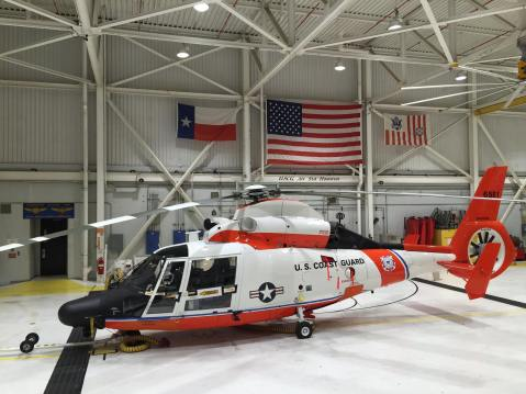 MH65 CG6581 100 year USCG aviation Dolphin Houston hh-65