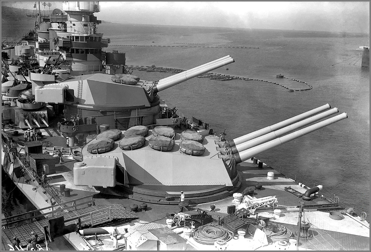Her 381 mm (15.0 in)/50 cal guns were tested to nearly 50,000 yards in experiments on land.