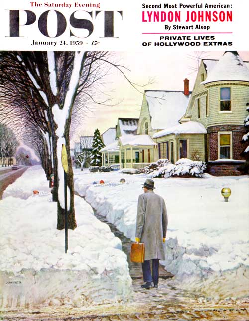 Snowy Ambush by John Falter
