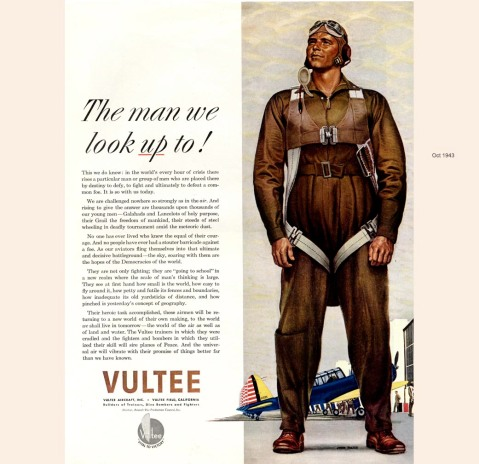 The man we look up to, Vultee Aircraft, 1943, John Falter