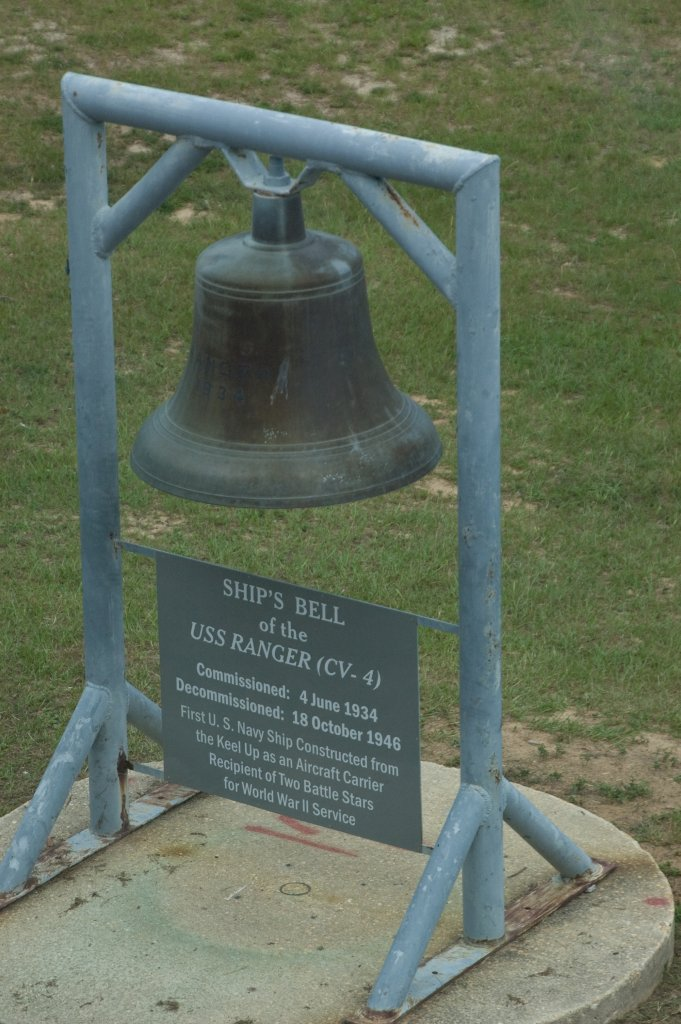 Ship's Bell, on display outside of the National Naval Aviation Museum, Pensacola, Florida. Photos taken on 13 June 2008. Via Navsource.