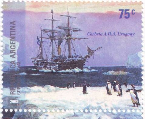 2003-10-18_Sello_AntArg-3Rescate Exp Sueca Corbeta Uruguay_2