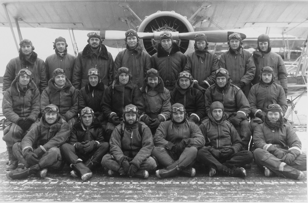 "View taken 6 February 1936 showing members of the ""Cold weather Test Detachment"" that had been embarked for special operations in Alaskan Waters. (The Detachment had been formed 25 November 1935, and was disbanded 25 February 1936) NHHC Catalog #: 80-CF-8005-3"