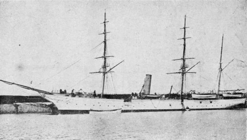 In her all white livery that she boasted as a gunboat
