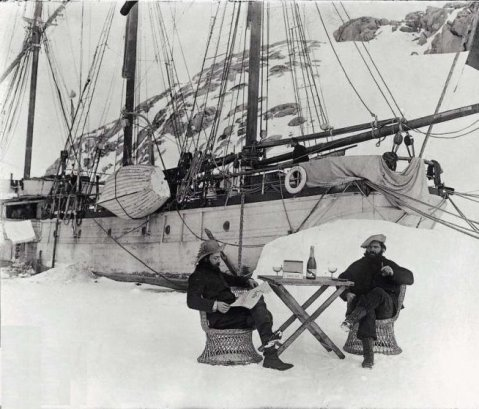 'Champagne on Ice' The story of a famous but forgotten 1904 photograph, the third French mission to Antarctica, as supported by ARA Uruguay