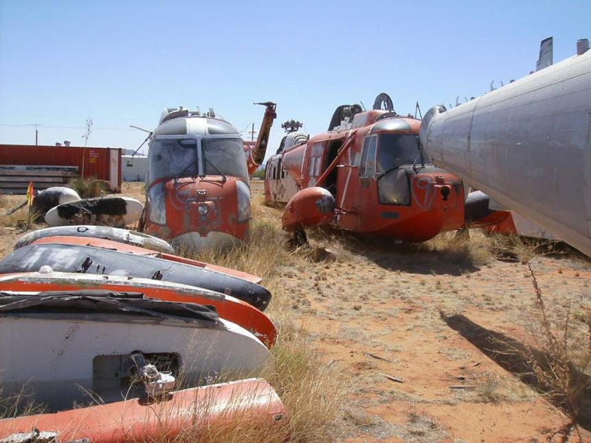 "Per USCG: ""This was a location in Cochise, Arizona, where nine HH-52s were privately owned. The owner planned to convert the 52s to fight fires, but ran into issue making the conversion impractical. The Coast Guard Aviation Association worked with the owner to acquire parts for the restoration of the 1426"""