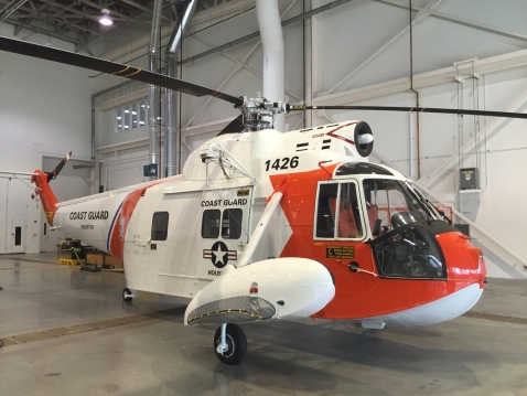 The Museum's first Coast Guard helicopter, 1426. Image Number: WEB15436-2016 Credit: Image by John Siemens, National Air and Space Museum, Smithsonian Institution