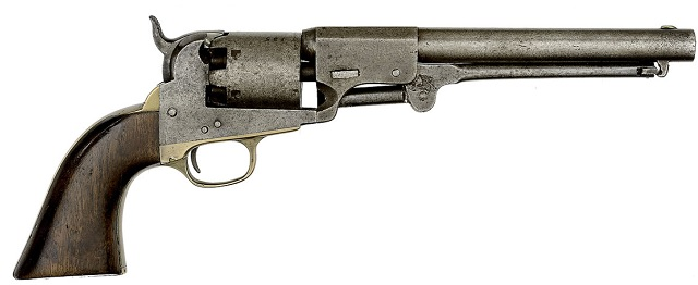 """J. H. Dance & Brothers Navy percussion Confederate revolver without recoil shield. """"Always considered a 'holy grail' for the advanced Confederate arms collector"""""""
