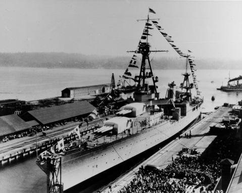 USS LOUISVILLE (CA-28) Gift of Admiral H.G. Bowen, 6/68 Catalog #: NH 65629