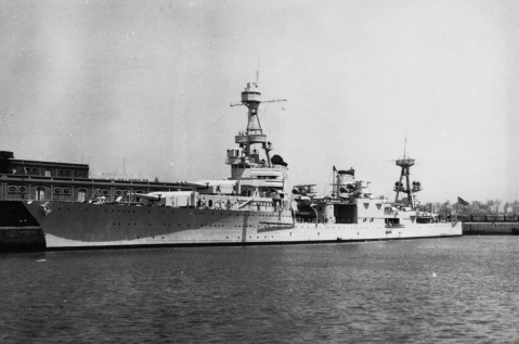 At Buenos Aires, Argentina in 1940. Note ship has 3-inch/50 caliber antiaircraft guns. Description: Courtesy of Donald Robertson Catalog #: NH 92256.