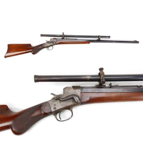 No. 3 Remington-Hepburn rifle steven scope 32-40