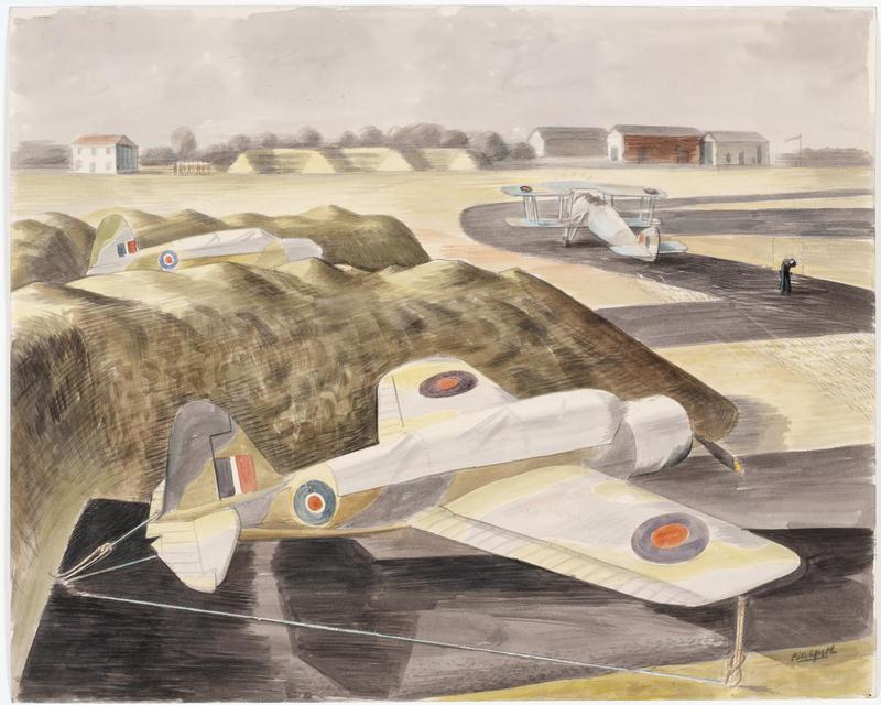 Pitchforth, Roland Vivian Protection Pits for Dispersed Aircraft, Lee-on-Solent landbase floatless kingfisher swordfish