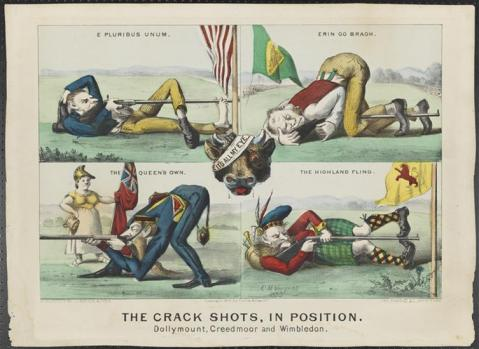 The crack shots in position dollymount creedmoor wimbledon 1870