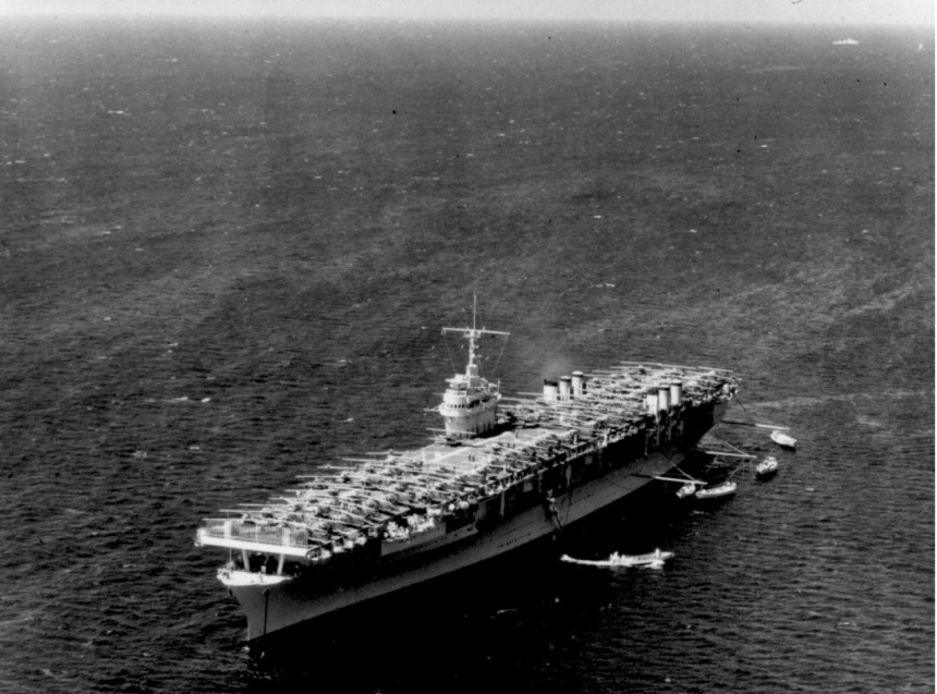 USS Ranger CV-4 off Honolulu, Hawaii during Fleet Problem XIX, 8 April 1938