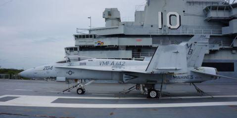 The aircraft on display at Patriots Point, McDonnell Douglas F/A-18A-15-MC Hornet, Bu.No. 162435, carries VMFA-142 markings was was SOC Jun 27, 2007.