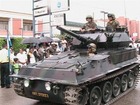 The Hondurans' FV-101 Scorpions are cute, but not T-72 worthy