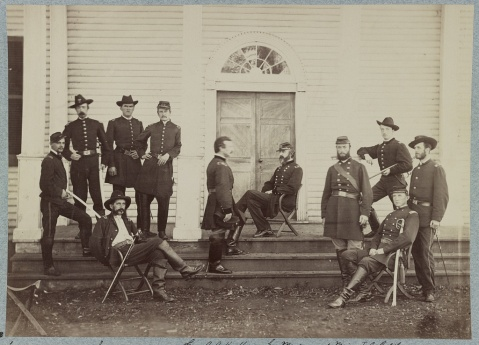 Gen. George G. Meade and staff, Culpeper, Va. Sept. 1863
