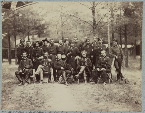 Gen. Joseph Hooker and staff, Falmouth, Va., June 1863