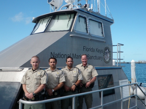 FWCs large offshore patrol vessels typically operate with a 3-4 man crew (Image NOAA)