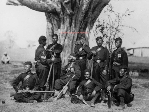 Gurkhas in the 1870s, note the 1867 pattern Snider-Enfields