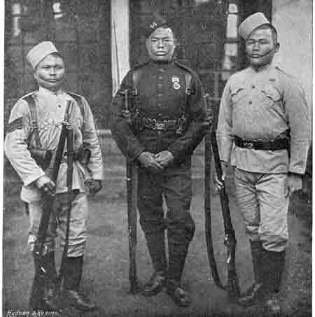 British Gurkhas from Navy And Army Illustrated, 1896, note the Martini-Henrys
