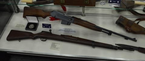 Or the only known low serial number Polish Army Radom Model M.31 (SN#45) in existence and a super rare Maroszek rifle Kbsp wz. 1938M (SN#1030). Speaking of NRA Silver Medals, the Maroszek picked up one of its own in 2014 in Indianapolis.