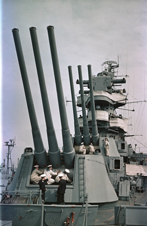 "These were 60 caliber guns..for reference the 16"" Mark 7s on the Iowa class had barrels just 50 calibers long"