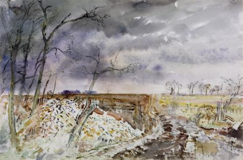 Landscape: Flint Heap, Road-Making c.1937-41 Thomas Hennell 1903-1945 Presented anonymously 1941 http://www.tate.org.uk/art/work/N05287