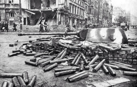 Panther turrets used a fixed artillery positions during the battle of Berlin