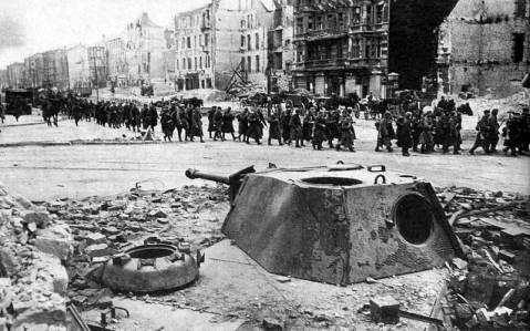 Panther turrets used a fixed artillery positions during the battle of Berlin b