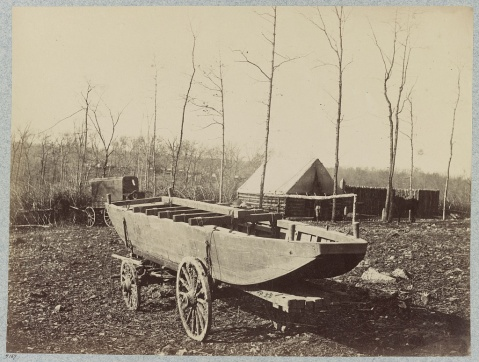 Pontoon wagon and boat, 50th New York Engineers, Rappahannock (i.e. Brandy) Station, Va., March, (i.e. Feb.) 1864