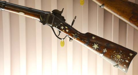 Sharps New Model 1863 with 47 badges spar