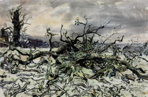 The Tree c.1938-40 Thomas Hennell 1903-1945 Purchased 1940 http://www.tate.org.uk/art/work/N05412