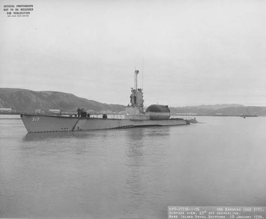 Source: NARA San Francisco, Mare Island Naval Shipyard Ship Files. USN photo # NY9-27726-1-56