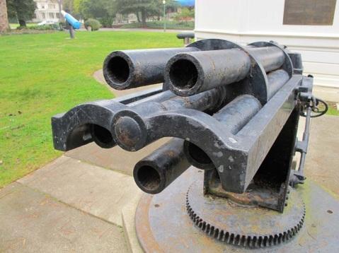 USS Thetis's 53mm Hotchkiss 5-Barrel Revolver Gun, Mare Island Shipyard, by Vladimir Yakubov
