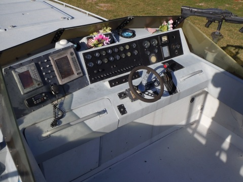 Controls were spartan at best but remember these were coastal boats. Also note the pintel mounted M60E3 to the starboard (Photo by Chris Eger)