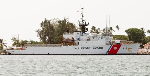 USCGC Thetis (WMEC-910) docked in the La Puntilla USCG base in San Juan, Puerto Rico