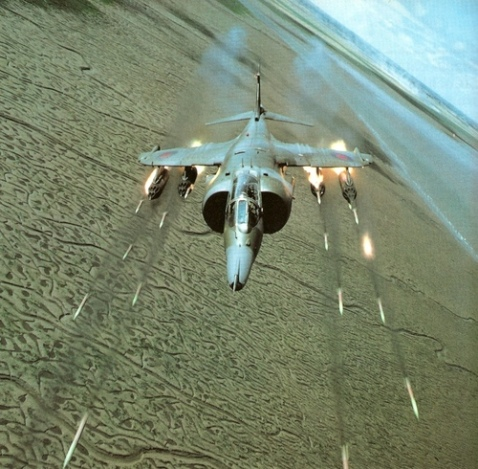 harrier 68mm sneb rocket volley