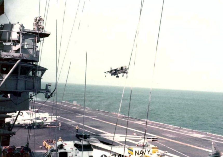harriers uss fdr franklin