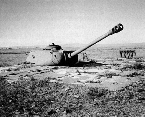 Soviet IS2 turret placed