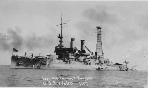 (Battleship # 24) Photographed in 1909 by Brown & Shaffer. Collection of Chief Quartermaster John Harold. U.S. Naval History and Heritage Command Photograph. Catalog #: NH 101497