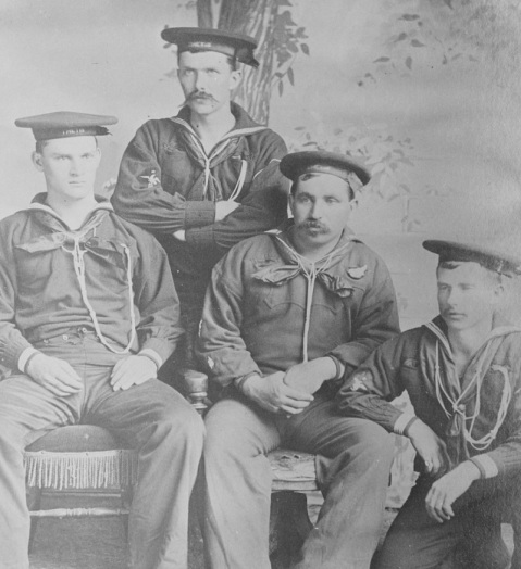 Crewmembers of USS THETIS at the time of the North Pole Expedition, 1884 Description: Courtesy Capital Gazette Press, INC., Annapolis, MD Catalog #: NH 119220