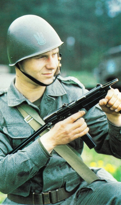 Polish marine with a Radom FB PM-63 RAK submachine gun. Go looking for one of these on the surplus market.