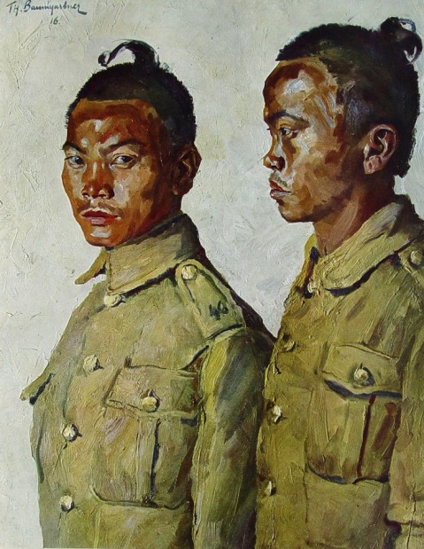 Portraits of soldiers first world war by Thomas Baumgartner (1892-1962) 7