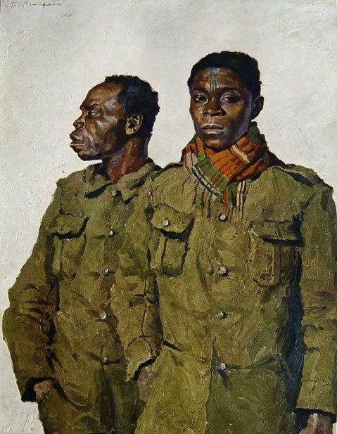 Portraits of soldiers first world war by Thomas Baumgartner (1892-1962)